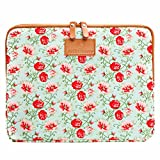 #DoYourMobile© eBook-Reader e-Reader Hülle Schutzhülle Transporttasche Sleeve Schutzcase Maße: 19,5 x 14,5 cm (6 Zoll) Motiv: grüne Blumen