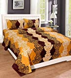 #10: Homefab India 140 TC Polycotton BedSheet with Pillow Cover - Multicolor