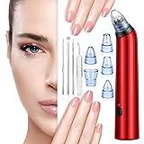 Mitesser Entferner, 5 in 1 Elektrischer Mitesserentferner und Porenreiniger Gesichts-Mitesser Akne-Entferner Hautreiniger Vakuum-Extraktion Werkzeug (PIN)