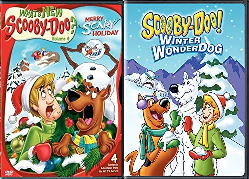 Hanna Barbera Christmas Dvd.Festive Frights Scooby Christmas What S New Scooby Doo Merry Scary Holiday Scooby Doo Winter Wonderdog Hanna Barbera Double Feature Animated
