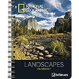 Landscapes 2017 - Landschaften 2017, Buchkalender National Geographic, Taschenkalender, Wochenkalender  -  16,5 x 21,6 cm