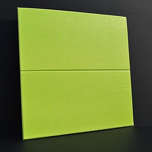 GBYZHMH 10 Stück 3D-Brick Wall Sticker, PE Schaum selbstklebende Tapete abnehmbar und wasserdicht Art Wall Tiles für Schlafzimmer Wohnzimmer Hintergrund TV-Dekor, Grün