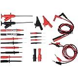 Sondes de Multimètre, moonlux Professional Test Leads Kit 22 pieces pour Multimètre, Kit d'Accessoires Remplaçables