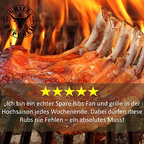 61MrJgxdubL - BBQ-Rub Gewürzmischung Geile Sau von Grill Republic/BBQ-Gewürz für Schweinefleisch/Premium Schweinefleisch-Gewürz für Spared Ribs/für Smoker, Grill, Ofen und Pfanne/250g