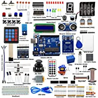 Adeept RFID Starter Kit for Arduino UNO R3, Servo, RC522 RFID Module, PS2