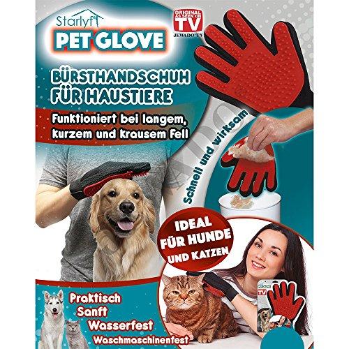 Starlyf® Pet Glove Bürste Handschuh für Haustiere wie Hund - Katze - Kaninchen - Original aus TV-Werbung! (Tv Kaninchen)