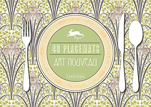 Art Nouveau : 48 sets de table en papier