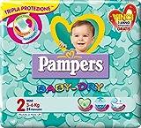 Pampers Baby Dry Pannolini Mini, Taglia 2 (3-6 kg), 24 Pannolini