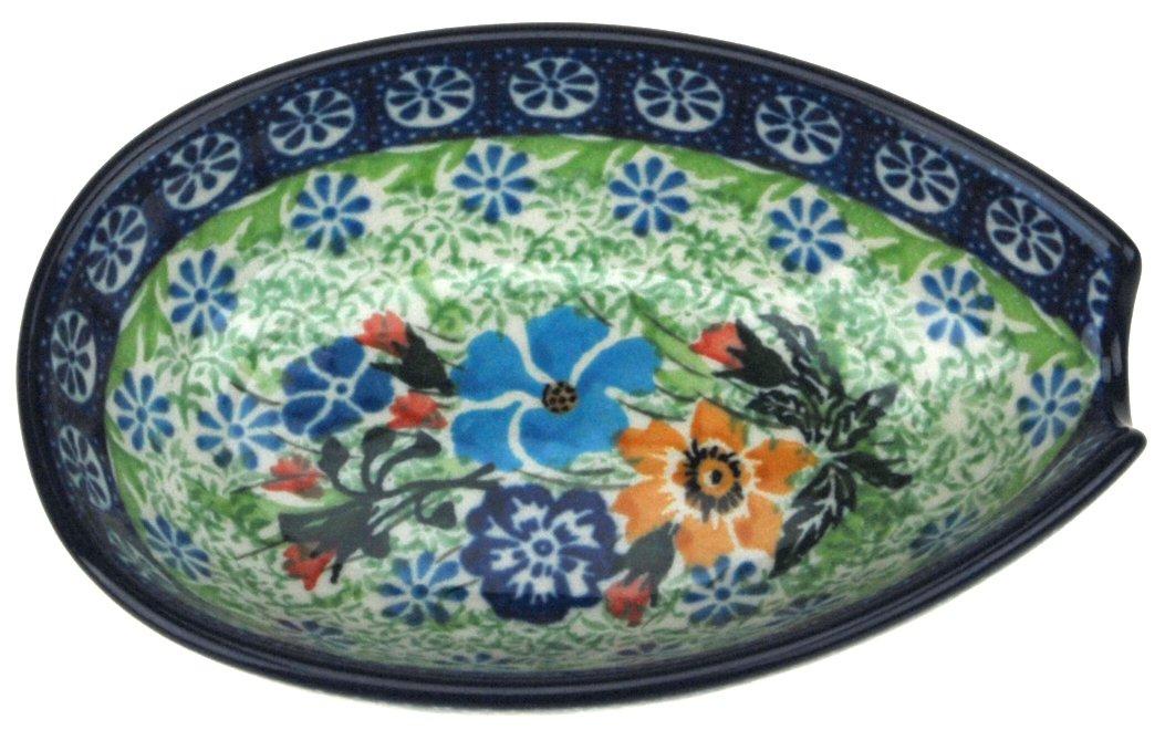 Ceramika Artystyczna Polish Hand Painted Spoon Rest (Wildflower Bouquet)
