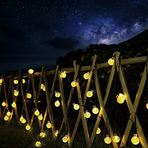 Solar outdoor string lights ascher 30 led fairy light warm white solar outdoor string lights aloadofball Choice Image
