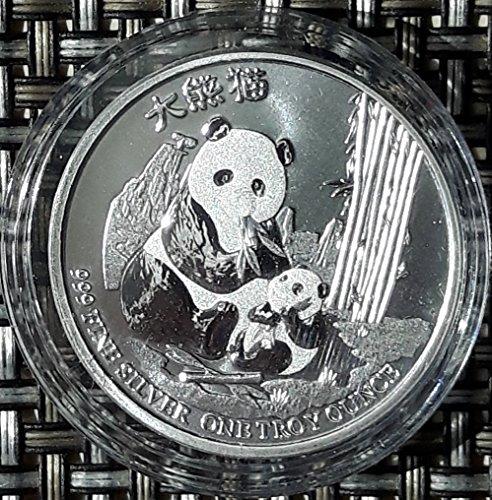 1 Unze Silber Niue Panda 2017 Neuseeland Silbermünze 1 oz Münze in Kapsel