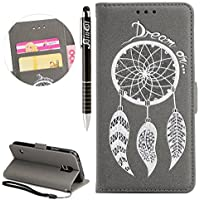 Galaxy S5 Hülle,Galaxy S5 Neo Hülle, Galaxy S5/S5 Neo Hülle Ledertasche Brieftasche im BookStyle, SainCat PU Leder... preisvergleich bei billige-tabletten.eu