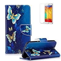 For Samsung Galaxy S7 Edge Case Cover, Funyye Practical Fashionable New 3D Patterns PU Folio Leather Wallet Designer Flip Magnetic [Card Holder Slot] Shock Absorber Full Body Protection Holster Case Cover Skin Shell for Samsung Galaxy S7 Edge-Blue Butterflies