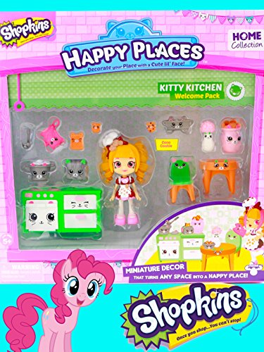 Shopkins Happy Places Kitty Kitchen Toy with Special Guest Pinkie Pie [OV]