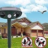 Shoppy Star New Solar Power Ultrasonic Animal Repellent Deterrent Dog/Cat/Bird/Mole PIR Motion Repeller