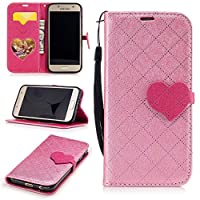 For Samsung Galaxy A3 (2017) Case [with Free Screen Protector],Kwapo® Stylish Premium Flip Magnetic Detachable PU Leather Wallet with Credit Card Holder Slots Smart Standing Folio Book Style Ultra Thin Nice Drawing Patterns Protective Case Cover Skin for Samsung Galaxy A3 (2017) - Pink