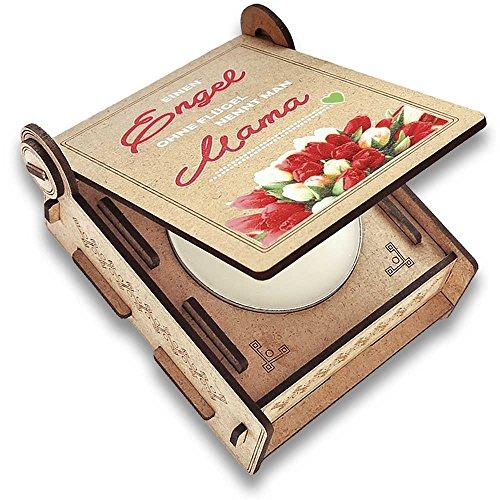 FANS & Friends Geschenkbox für Mama mit Botschaft & Kerze | Geburtstagsgeschenk | Engel ohne Flügel nennt Man Mama | Dankeschön Mama | Geschenk zum Geburtstag