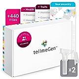 Test DNA Duo Advanced tellmeGen | (Salute + Tratti personali + Wellness + Origini) | Quello che il DNA dice di voi