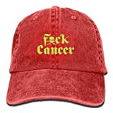 Proud Clothing Green FCK Cancer Unisex Cool Adjustable Baseball Cap Dad Hat