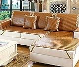 IKUN-JJ Couch Cover Schutz Sommer Rattansitz Stoff Leder Sofakissen Bambus Anti-Rutsch Couch Abdeckung Wohnzimmer, Hochzeit, Hotel (Farbe : 4, Größe : 60 * 180cm)