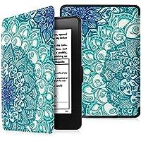Fintie Kindle Paperwhite Hülle - Die dünnste und leichteste Schutzhülle Tasche mit auto Sleep / Wake für Amazon Kindle Paperwhite (alle Modelle von 2012, 2013, 2015, 2016 und 2017), Smaragdblau