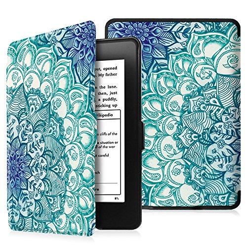 Fintie Hülle für Kindle Paperwhite - Die dünnste und leichteste Schutzhülle mit auto Sleep / Wake Funktion (Nicht geeignet für das Modell der 10. Generation 2018), Smaragdblau