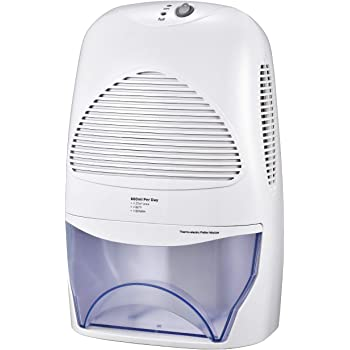TOPELEK 2L Compact Dehumidifier for Home, Portable Whisper-Quiet Air Dehumidifier for Bedroom, Damp, Mould, Moisture in Office, Kitchen, Bathroom, Caravan, Garage with Auto Shut Off