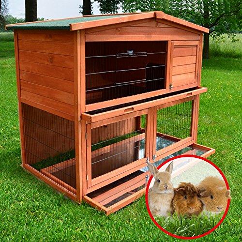 Zooprimus Kaninchenstall 21 Hasenkäfig – HASENHAUS-XL – Stall für Außenbereich (GRÖßE: (XL) | für Kleintiere: Hasen, Kaninchen, Meerschweinchen usw.) - 4