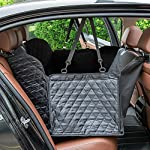 hantajanss Luxury Dog Seat Cover,Nonslip Waterproof Easy Cleaning Car Large Back Seat Pet Covers Hammock for Cars… 11