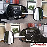 Streetwize TWIN PACK Stick-On Towing Mirror Caravan Mirrors Convex & Flat Glass Suck it and See