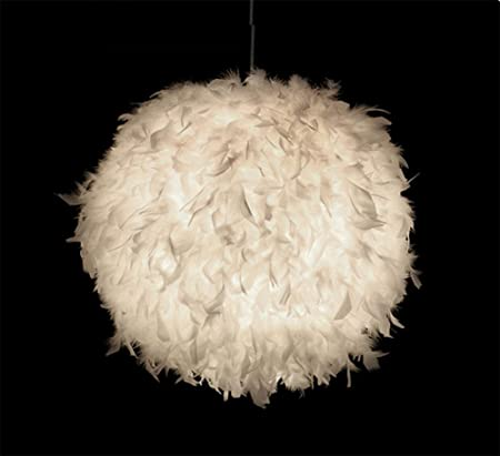 federlampe gbt large modern white feather globe design ceiling pendant light shade pink amazoncouk diy tools lampe federn ikea