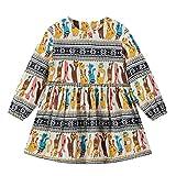 LEXUPE Bekleidung Mädchenbekleidung, Kleinkind Baby Kinder MäDchen Langarm Katze Streifen ReißVerschluss Prinzessin Kleider Kleidung