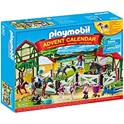 Playmobil Calendario de Adviento-9262 Granja de Caballos (9262)