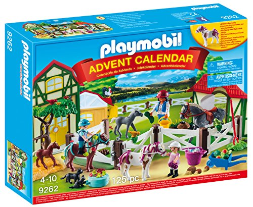 Playmobil Calendario de Adviento-9262 Granja de Caballos, (9262)