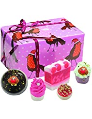 Bomb Cosmetics Rockin Robin Handmade Wrapped Gift Pack [Contains 5-Pieces], 390g