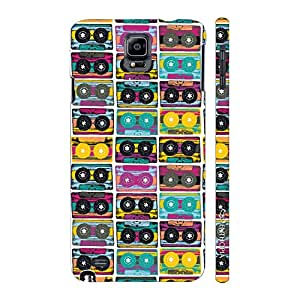 Enthopia Designer Hardshell Case The Old Way of Music - colourful Back Cover for Samsung Galaxy Note 4