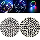 wuchance Neue WS2812B 5050 SMD RGB RGBW RGBWW 93 LEDs Ring Licht Chip Board DC5V (Color : RGBWW)