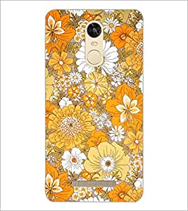 PrintDhaba Flowers D-2077 Back Case Cover for XIAOMI REDMI NOTE 3 PRO (Multi-Coloured)