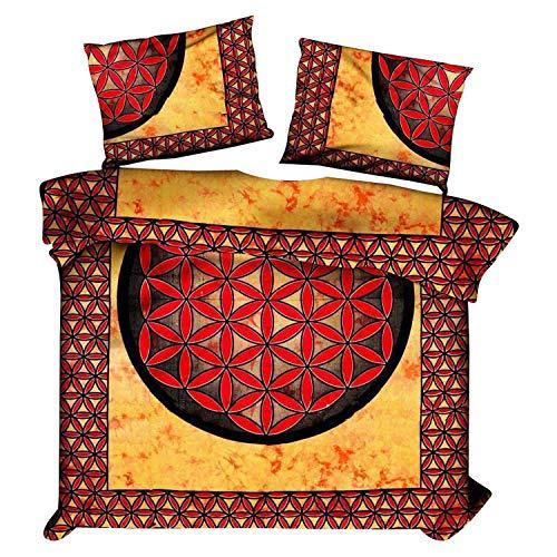 Marusthali Indische Mandala-Bettbezug Indische Baumwolle werfen Doona Cover Decke Set Reversible Tröster Set Pilow Cover Bett in Einer Tasche Set Bettlaken -