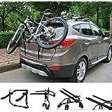 WOLTU FZU1115 Porte-vélos des supports de bicyclettes roues Porte-bagages arrière pliable vélo voiture