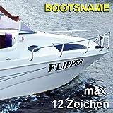 Bootsname // 10 Farben und Schriften zur Auswahl // Höhe: 100mm