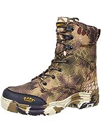 nihiug Scarponcini da Escursionismo per Uomo Impermeabili Leggero High Rise  Leggero Outdoor Caccia Stivali Camouflage 7b88d79d1e6