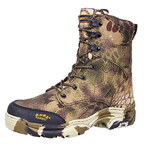 Scarponcini da Escursionismo per Uomo Impermeabili Leggero High Rise Leggero Outdoor Caccia Stivali Camouflage,PythonPattern-42