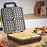 from VonShef VonShef Quad Belgian Waffle Maker 1100W  Compact Design with Non-stick Coating & Automatic Temperature Control