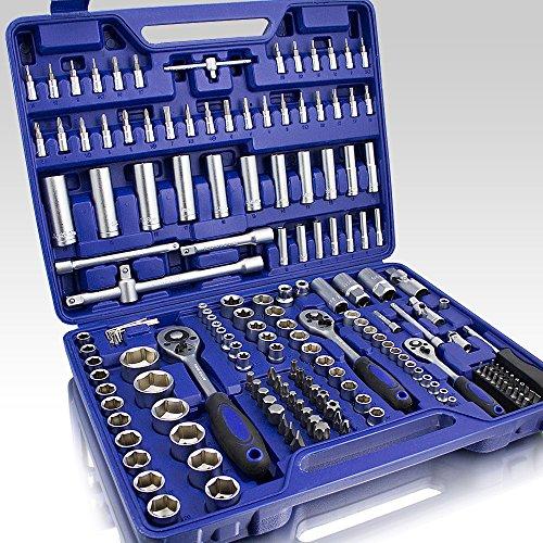 BITUXX® Ratschenschlüssel Werkzeugkoffer 171-teilig Knarrenkasten Ratschen Knarren Schlüssel