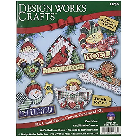 Signs Of Christmas Ornaments Counted Cross Stitch Kit-3-1/2