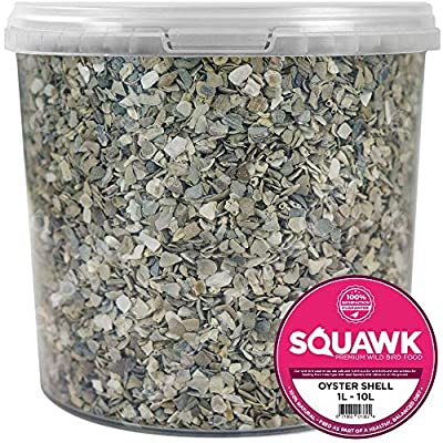 SQUAWK Hen Sized Oyster Shell | Premium Grade Poultry Food Mix | Nutritious Feed for Chicken Hen Animals | Natural Grit Mixture | Improves Digestion, Strong Bones & Beaks and Size of Eggs by SQUAWK