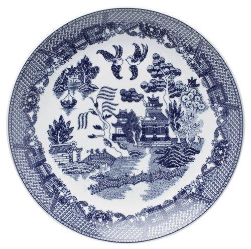 HIC Harold Import Co. YK-319 Buffet-Teller, Weide, Blau Buffet Plate 12 1/4