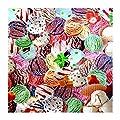 """Tischdecke Wachstuch Abwaschbar """"Gelato"""" verschiedene Eissorten 138cm Rund (210-00R) von FLORISTA auf Gartenmöbel von Du und Dein Garten"""
