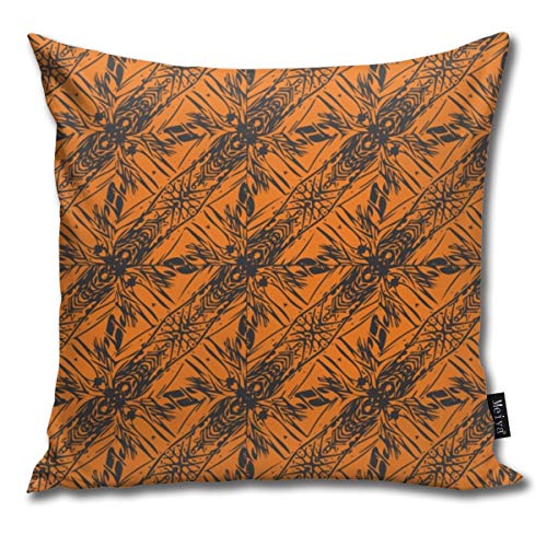 Funny&shirt Hawaii Plant Series - Halloween_4114 Cotton & Polyester Soft Zippered Cushion Throw Case Pillow Case Cover 18